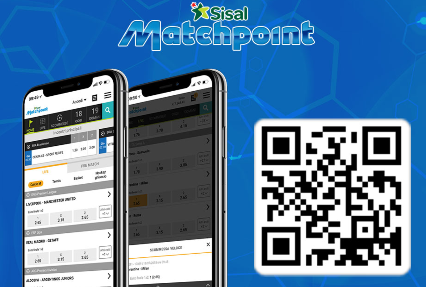 Sisal matchpoint mobile tuo account